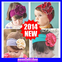 Headbands Cotton Floral 60 designs TOP BABY flower Bouquet Girl's Hair Headbands Bow hair clips HEADBAND hat cap hair band girls head wrap 46-60 1160818695 ty