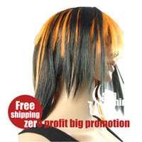 Wholesale Christmas zero profit factory wigs wigs supply of new real shot g layer color long straight hai