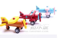 Wholesale Series of twelve models wooden airplane toy model aircraft movable children s educational toys