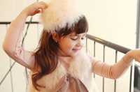 Wholesale Fashion Koran Kid s Hair Accessories Authentic Rabbit Hair Big Size Children Hair Sticks Baby Hair Wear Girl Hair Stick QZ465