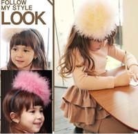 Wool koran - Fashion Koran Children s Hair Accessories Authentic Rabbit Hair Big Size Girl Hair Sticks Kids Hair Wear Baby Hair Stick QZ465