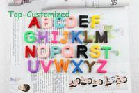 Wholesale 10PCS mixed batch of resin cartoon alphabet fridge magnets