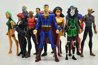 Wholesale 12pcs set DC The Avengers SuperMan Robin Wonder woman figure toy doll
