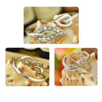 Wholesale S5Q Silver Clear Leaves Design Ring Elegant Adjustable Cute Lovely Hot Fashion AAABAB