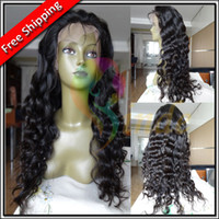 Wholesale Stock quot quot virgin unprocessed Brazilian Hair Body Wave Natural Color Lace Front Wig Glueless