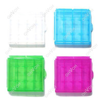 Wholesale S5Q x Hard Plastic Case Pack Holder Storage Box for AAA AA Rechargeable Battery AAAAPC