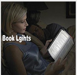 Wholesale Novelty LED Reading Book Lights Protable Flat Plate Lightwedge Night Light Eye protection Lamp for Car Bedroom