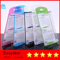 Wholesale Universal Plastic Crystal PVC Retail package Packaging box boxes for iphone S iphone S C Samsung Galaxy S3 S4 mini phone Case Cover