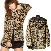 Other Women S Sexy Fashion Women Leopard Faux Fur Coat Jacket Outerwear Adeal #6314
