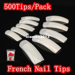 Wholesale JZJZ Tips Pack Different Size Natural French Nail Tips False Acrylic Nail Art Tips