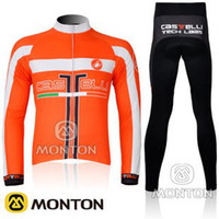 Wholesale CASTELLI cycling jersey cycling jersey Orange amp Black Cycling Jersey Cycling Wear Cycling Clothing Long Pants5A