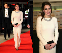 Wholesale Kate Middleton Celebrity Dress The Wolf Of Wall Street New York Premiere cutout back sheath evening Gowns long sleeve Prom Dress