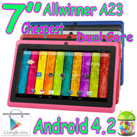 "7 inch Android 4.2 4GB Cheapest 7"" Dual Core Q8 Q88 Q8H Capacitive Multi Touch Allwinner A23 Android 4.2 Tablet PC Play Store WIFI Dual Camera A13 Upgraded MID"