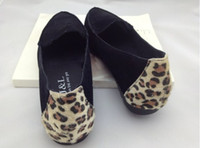 Slip-On Women Spring and Fall Low Heel Charming Leopard pointed Doug Single Shoes Soft Cotton Women Lace Up Casual soft bottom Pure Candy Colors Noble Lady Shoes,5sets.