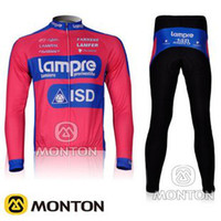 Wholesale Lampre team men cycling jersey Pink Blue Cycling Jersey Cycling Wear Cycling Clothing Long Pants Cheap cycling jerseys factory direct sell
