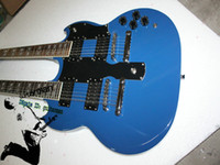 Solid Body 12 Strings Mahogany Custom Shop Double-neck Electric Guitar 1275 SG Guitar blue Free shipping