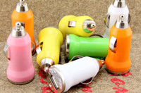 Wholesale Mini USB Car Charger Adapter Universal for iPhone s c iphone s all cell phones Mp3 Mp4 player