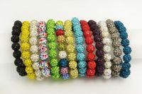 Beaded, Strands beaded chain swarovski crystals - FREE Shiny Bracelet Shamballa Crystal Swarovski Disco Ball Beads Hand made Bracelets fashion jewellery