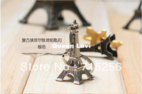 Wholesale 120pcs D Eiffel Tower French France Souvenir Paris KeyChain Key Chain Key Holder Keyring colors