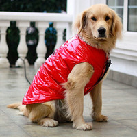 Wholesale HOT plus size winter cold proof dog s reflective clothes cotton two feet pet clothing for big dogs free shiping