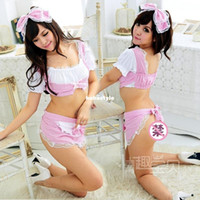 Babydoll Lace Other s Exclusive baby ! Women's sexy lingerie sexy maid outfit cute aprons prop chest maid uniforms temptation suit