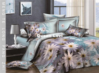 Adult Twill 100% Cotton 5pcs fashion sunflower blue Cotton girls 3d comforter bedding sets bedclothes duvet cover bedsheet quilt cover sets bed linens