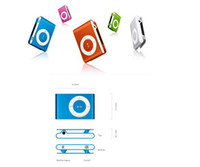 Wholesale Mini clip MP3 player Music Player Support Micro SD TF Card with usb cable earphone retail glass box colors