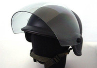 Wholesale SWAT Airsoft M88 PASGT Kevlar Helmet w Visor Black free ship