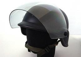 SWAT Airsoft M88 PASGT Kevlar Helmet w Visor Black free ship
