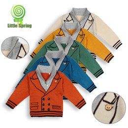 Wholesale Cheap Baby Clothes Boys Kids Clothing Sweater Pullover Winter Orange Yellow Green Blue Cream