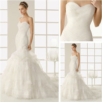 Trumpet/Mermaid Reference Images Chiffon WD9167 Sweetheart Layered Mermaid Grecian Style Wedding Dresses