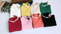 Wholesale Children s Pullover Sweater Kids girls Lovely Strawberry Cartoon Pullover Knitting sweater