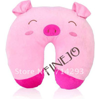 Wholesale New Fashion Cute Cartoon Pig Pattern Design U shaped Pillow Neck Pillow