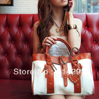Wholesale 2013 FASHION Korean Style Women s Hobo PU leather Handbag Shoulder Bag white