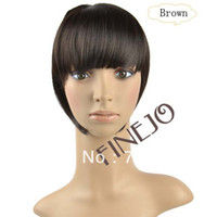 Wholesale New Women s Straight Clip on Front Neat Bang In Fringe Hair Piece Extension Brown Color