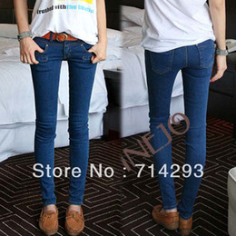 Wholesale Women s Stylish Slim Fit Skinny Pencil s Denim Jeans Trousers Blue