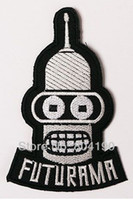 animated fashion - FUTURAMA Fashion Animate TV Series punk rockabilly applique sew on iron on patch
