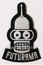 Wholesale FUTURAMA Fashion Animate TV Series punk rockabilly applique sew on iron on patch