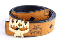 Wholesale 2013 Latest MCM Belt fashion Men Women leather belts reversible belts in box sz cm