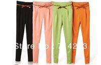 Pants Women Bootcut Women's Stylish Candy Color Slim Fit Pencil Pants Casual Suit Pants Tailored Trousers 16725
