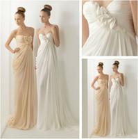 Trumpet/Mermaid Reference Images Chiffon WD5561 Sweetheart Chiffon Grecian Wedding Dresses