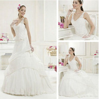 Trumpet/Mermaid Reference Images Chiffon WD01203 Lace Long Train Grecian Style Wedding Dresses
