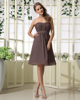 Ruched allure bridesmaids dresses - 2013 A Line Bridesmaid Dresses Allure Chiffon Short Bridesmaid Dresses Sweetheart Beach Girls Wedding Party Dresses Jr Bridesmaid Dresses