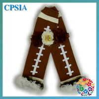 Wholesale Baby cotton leg warmer sets Rugby football America Football Kids Clothing Legwarmers sets