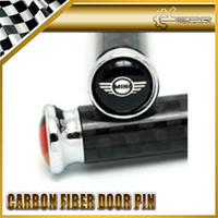 Wholesale 4pcs set FOR MINI COOPER Real Carbon Fiber Door Pin Lock R53 R50 R56 CLUBMAN COUNTRYMAN BEACHCOMBER PACEMAN