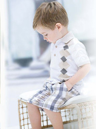 Wholesale New Fashion Summer Sets boys clothing Set T shirt shorts Striped children Clothing Sets boy Suits