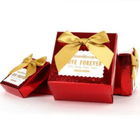 Wholesale 6 cm European Color Square Candy Box Creative Paper Gift Package Wedding Favors CK071