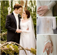 Wholesale Twilight wedding dress new arrival bella wedding dress long sleeve lace paragraph