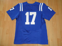 Wholesale Indianapolis Austin Collie Elite Blue American Football Jerseys Man Rugby Stitched Jersey Authentic On Field Jerseys Mix Order