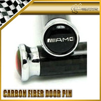 Wholesale 4pcs set AMG Real Carbon Fiber Door Pin Lock A E S M ML GLK SLK CLK CLASS W211 W214 W169